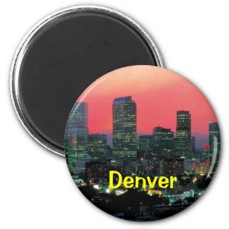 Denver Colorado Imán Redondo 5 Cm