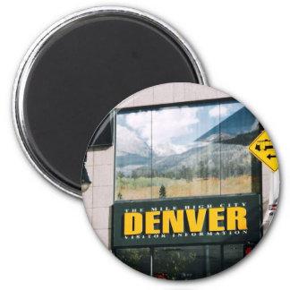 Denver, Colorado Imán Redondo 5 Cm