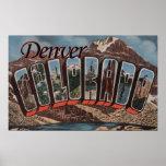 Denver, Colorado - Large Letter Scenes Poster