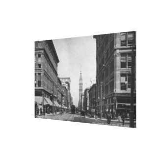 Denver, Colorado - Looking down 16th Street View Canvas Print