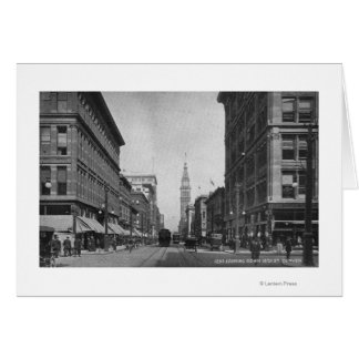 Denver, Colorado - Looking down 16th Street View Cards