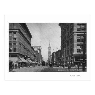 Denver, Colorado - Looking down 16th Street View Postcard