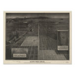 """Denver Colorado """"Lots for Sale"""" 1907 Panoramic Map Poster"""