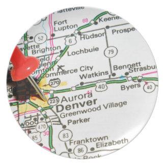 Denver, Colorado Melamine Plate