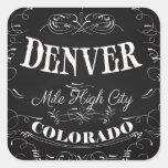 Denver, Colorado - Mile High City Square Sticker