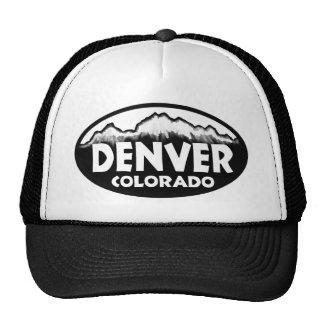 Denver Colorado oval mountains Trucker Hat