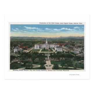 Denver, Colorado - panorama de cívico Tarjeta Postal
