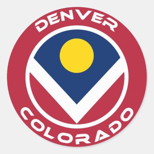 Denver, Colorado Pegatina Redonda
