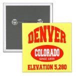 Denver Colorado Pinback Buttons