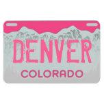 Denver Colorado pink license plate magnet
