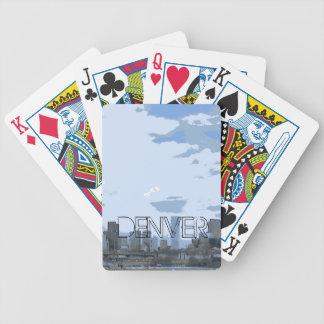 Denver Colorado skyline artistic playing cards