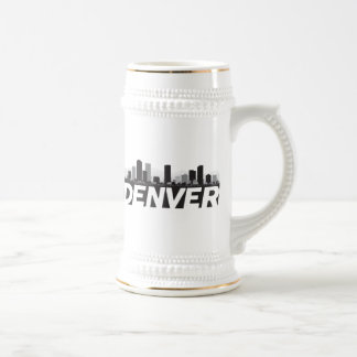 Denver Colorado Skyline Beer Stein