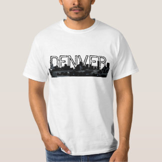 Denver Colorado skyline buildings value tee