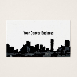 Denver Colorado skyline customizable cards