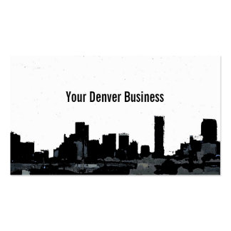 Denver Colorado skyline customizable cards Double-Sided Standard Business Cards (Pack Of 100)