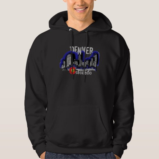 Denver Colorado skyline hoodie