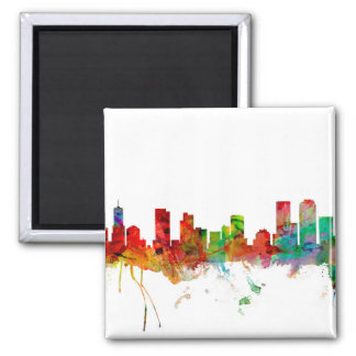 Denver Colorado Skyline 2 Inch Square Magnet