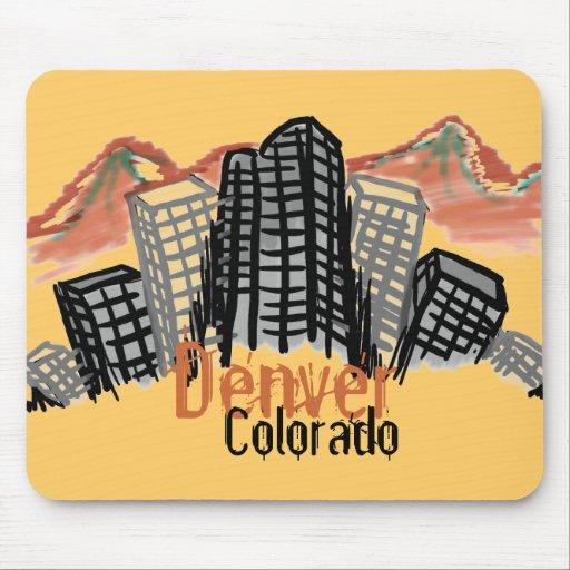 Denver Colorado skyline mousepad