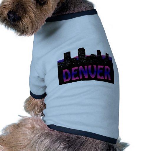 Denver Colorado Skyline Pet T-shirt