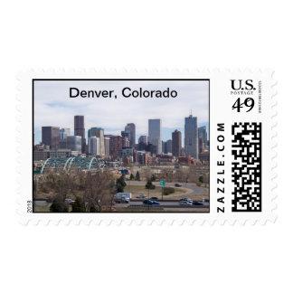 Denver, Colorado Skyline Postage Stamp