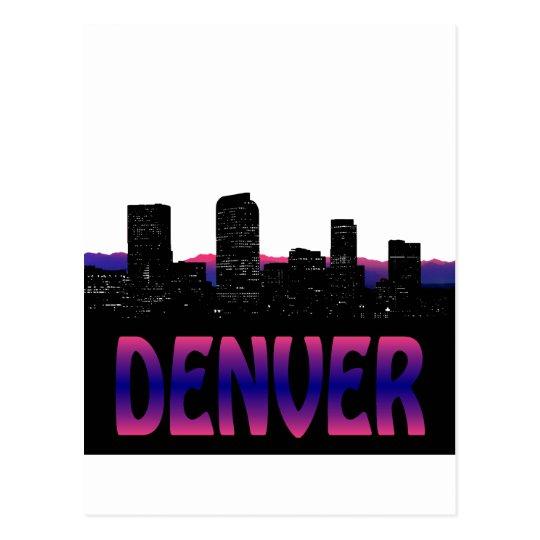 Denver Colorado Skyline Postcard