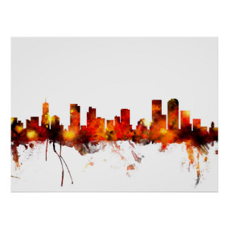 Denver Colorado Skyline Poster