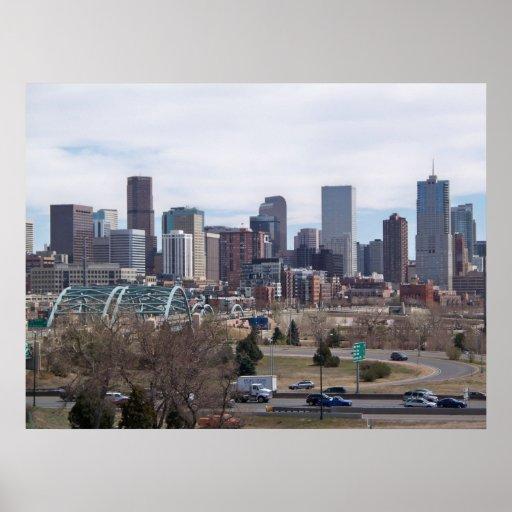 Denver, Colorado Skyline Poster