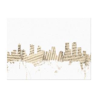Denver Colorado Skyline Sheet Music Cityscape Canvas Print