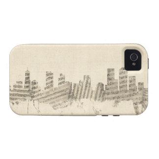 Denver Colorado Skyline Sheet Music Cityscape Case-Mate iPhone 4 Cover