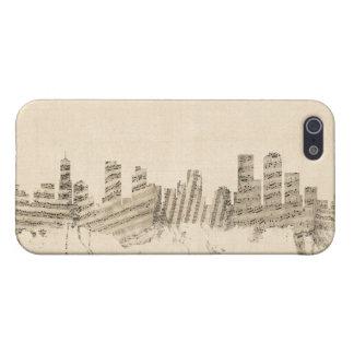 Denver Colorado Skyline Sheet Music Cityscape Case For iPhone SE/5/5s