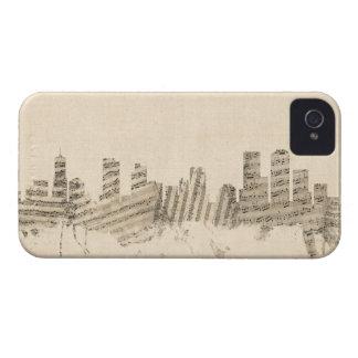Denver Colorado Skyline Sheet Music Cityscape iPhone 4 Case