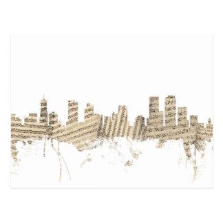 Denver Colorado Skyline Sheet Music Cityscape Postcard