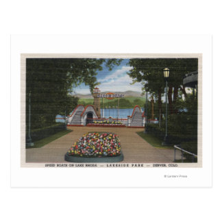 Denver, Colorado - Speed Boats on Lake Rhoda Postcard
