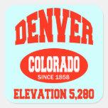 Denver Colorado Square Stickers