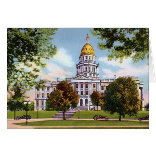 Denver Colorado State Capitol Card