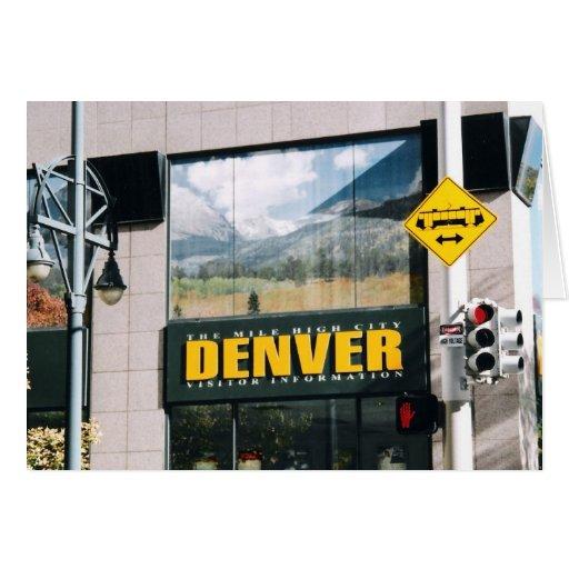 Denver, Colorado Tarjeta De Felicitación