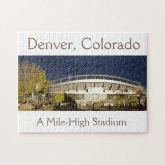 Denver, Colorado, un rompecabezas del Mile High