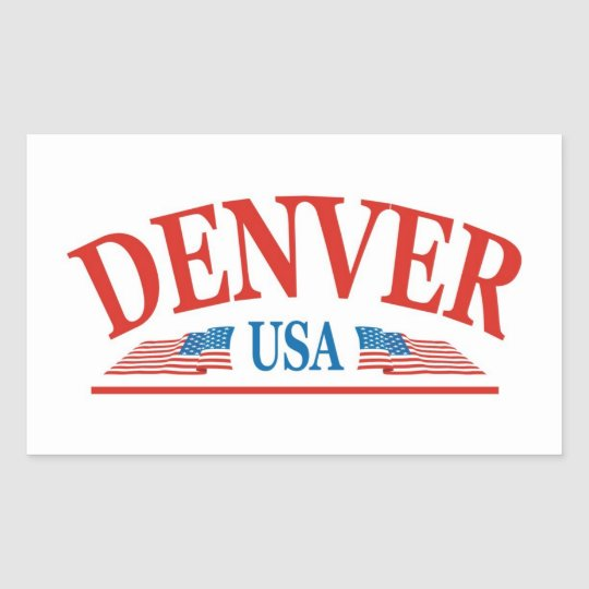 Denver Colorado USA Rectangular Sticker