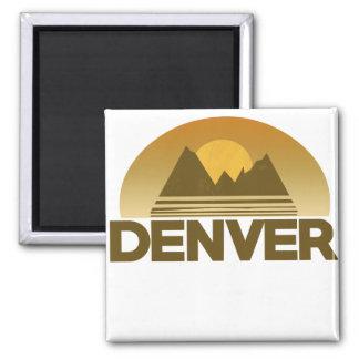 Denver Colorado vintage travel 2 Inch Square Magnet