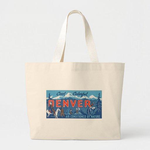 Denver colorida fresca bolsa lienzo