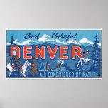 Denver colorida fresca impresiones
