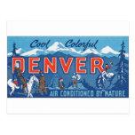 Denver colorida fresca postal
