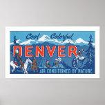 Denver colorida fresca póster