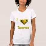 Denver -- con la flor amarilla camisetas