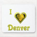 Denver -- con la flor amarilla tapete de ratones