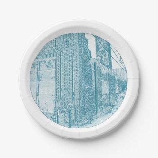 Denver Corners & Alleys Paper Plate