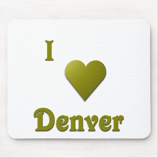Denver -- De color verde oscuro Mousepads
