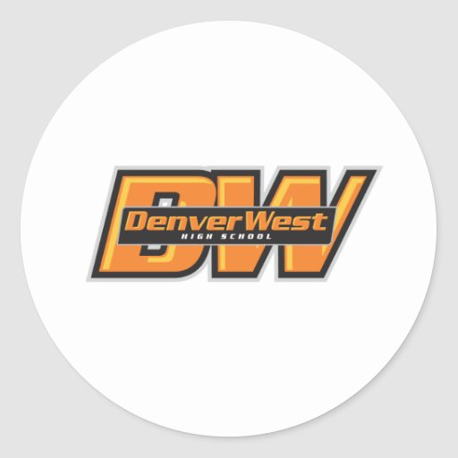 Denver del oeste pegatina redonda