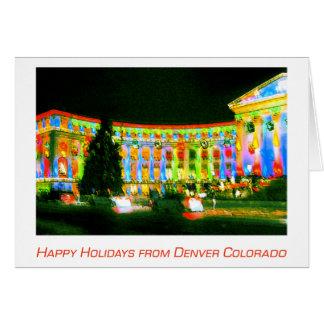 Denver, edificio del CO, de la ciudad y del condad Tarjeta De Felicitación