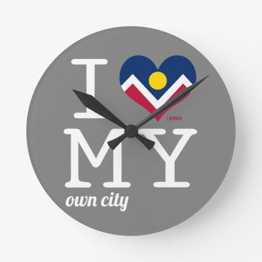 Denver el | Colorado Reloj De Pared